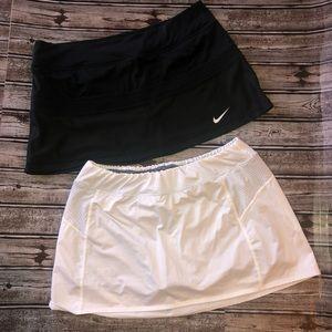 2 tennis skorts size large Nike & more